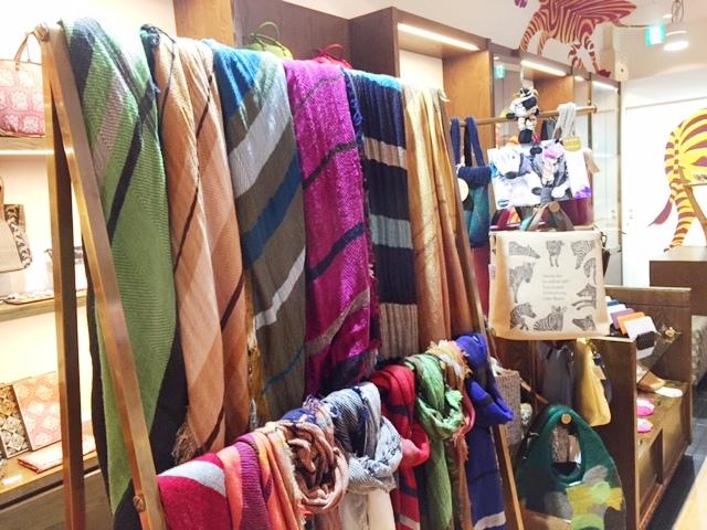 tamaki niime 冬の播州織ショールフェアがはじまりました!